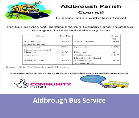 Aldbrough Bus Service Timetable